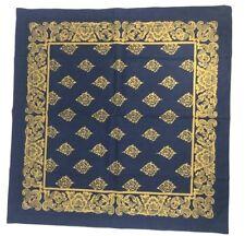 Williams Sonoma One (1) Thai Palace Navy Blue Napkin Exotic Gold Fabric Square