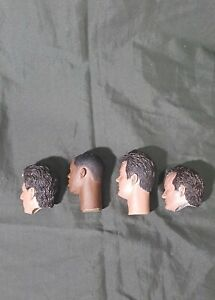 kit with 4 heads 1/6 scale Ghostbusters Egon Peter,Ray and Winston