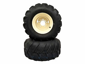 (2) Grasshopper Wheel and Tire Assemblies Fits 700 Series 22x11.00-10 Bar Tread