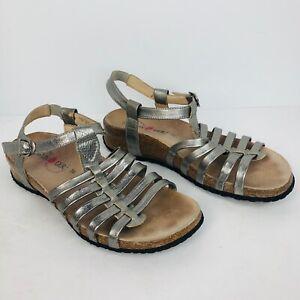 Haflinger gold metallic Slip On Sandals Size 39 US 8 8.5 Comfortable Shoes