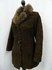 Women's Vtg Sheepskin Shearling Coat Size 10 Dry Cleaned