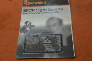 Browning BPCR front Globe Sight Insert Set fits Lyman #17A  NOS