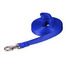 Dog Lead Leash Training Long Line Recall Walking Obedience Hunting 5m Woven Blue
