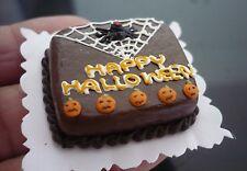 Dollhouse Miniatures Clay Halloween Chocolate Sheet Cake Fancy Night Festival -6