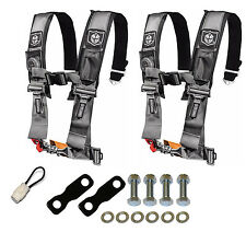 Pro Armor 4 Point Harness 3 Seat Belt Pair Mount Kit Bypass Silver YXZ1000R 2017