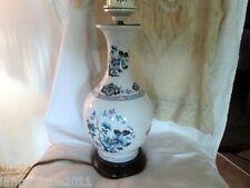 GRANDE LAMPE DE SALON PORCELAINE LIMOGES STYLE C.THARAUD