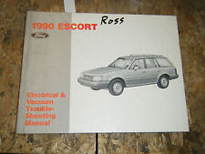 1990 FORD ESCORT ELECTRICAL & VACUUM TROUBLESHOOTING SERVICE MANUAL WIRING