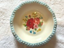 "THE PIONEER WOMAN MINI PIE PAN DISH 5"" SWEET ROSE DURABLE STONEWARE FLORAL BAKE"