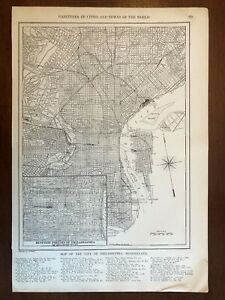 1927 Philadelphia, PA Map with Inset, New World Atlas and Gazetteer