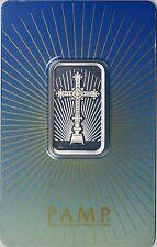 PAMP Suisse Romanesque Cross Silver Bar 10g 10 Gram .999 Fine Sealed