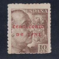 IFNI (1941/42) NUEVO SIN FIJASELLOS MNH SPAIN - EDIFIL 15 (10 pts) FRANCO