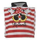 DISNEY poncho cape de bain à capuche MINNIE rouge et blanc 0-24 mois NEUF