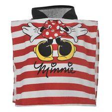 DISNEY poncho cape de bain à capuche MINNIE rouge et blanc 0-24 mois serviette