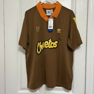 Cheetos x Bad Bunny Collection by Adidas Brown Jersey Shirt Size Large