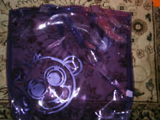 Justice Purple Shiny See-Through Monkey Travel Tote Weekend Shopper Bag NWT PVC