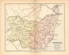 1877 Antico County Map-Suffolk, Orford, che, Mildenhall, occhio, haverhil