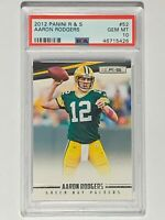 2012 Panini R & S #52 Card AARON RODGERS Green Bay Packers - PSA GEM MINT 10