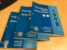 1998 CHEVROLET  P12 CHASSIS MOTOR HOME SERVICE MANUAL VOL 1,2& 3