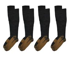 (4 Pairs) Copper Compression Socks 20-30mmHg Graduated Support Mens Womens XXL