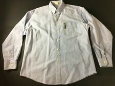 Looney Tunes Classic Bugs Bunny Mens Blue Front Pocket Shirt Size Medium