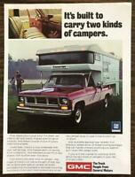 1974 GMC Truck Print Ad Built to Carry Two Kinds of Campers