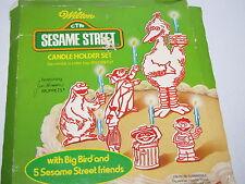 Vintage 1971 Wilton Sesame Street Candle Holders Big Bird, Ernie, Bert. More New