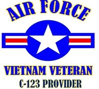 VIETNAM VETERAN C-123 PROVIDER  AIR FORCE SHIRT