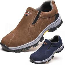 Men Safety Steel Toe Fashion Round Casual Breathable Climbing Hiking Work Boots