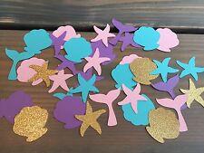 100 Under The Sea, Mermaid, Girl Birthday Party Confetti, Baby Shower
