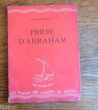 Pierre Emmanuel  Prière d'Abraham 1943 Edition originale