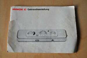Minox C Bedienungsanleitung