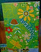 Beautiful 2 Ft. by 3 Ft. 100% Wool Embroidery Made in India Throw Rug #1