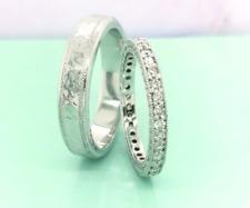 1.26 Carat Diamond White Gold Wedding Rings 14K (MTO) sep