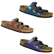 Birkenstock Florida Graceful Gemm Red Violet Blue Sandals Slides Thongs Shoe NEW