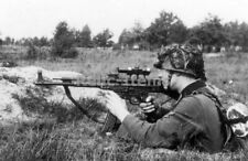 WW2 Picture Photo German Soldier fires a StG 44 (Sturmgewehr 44) 1943 0238