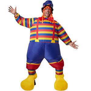 Unisex Kostüm aufblasbar Clown Zirkus Suit BlowUp Fasnacht Karneval Party