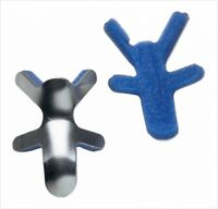 MCK Finger Splint Frog Style Aluminum / Foam Left or Right Hand Silver / Bl