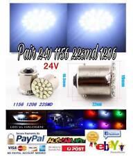 2pcs 24V 1156 BA15S 22SMD LED WHITE Truck clearance park Light Globe Lamp