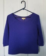 Princess Vera Wang purple, ruched, scoop neck, 3/4 sleeves. Size small shirt