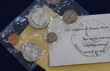 1970 Panama 6 Coin Proof Set with 1/2 & 1 Silver Balboas Original Package E2169