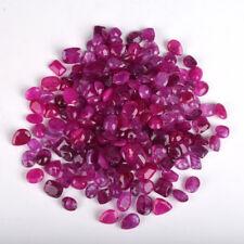 500 Ct. 30-40 Pcs 100% Natural Blood Red Ruby Loose Gemstones Lot Best Deal
