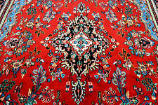 9X12 1960's Exquisite Mint Hand Knotted Vegetable Dyed Tribal Oriental Wool Rug