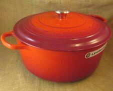 New listing Le Creuset Cast Iron 13 1/4 quart Round Dutch Oven , Cherry, Nib