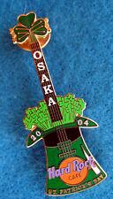OSAKA 04 ST PATRICK'S DAY GREEN HAT GUITAR SPROUTING SHAMROCK Hard Rock Cafe PIN