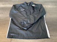 Nike Shield Water Resistant Youth Unisex Jacket Medium Black AJ9278-010
