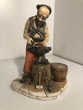 Ceramic Blacksmith Figurine #837 by Nature Craft, Made in England 1973