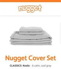 BRAND NEW: Nugget Comfort Kids Couch COVER SET Koala Calm Cool Gray FREE SHIP!