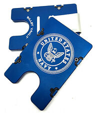 Billet Vault Aluminum Wallet, RFID protection, Blue anodized, United States Navy