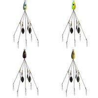 21.5cm Umbrella Rig Bass Alabama Bait Lure Connector Head Trolling 5 Arms