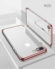 iPhone 7 / 8 ROSE GOLD Color Bumper Silicone Clear TPU Slim Back Cover Case 4.7